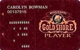 Gold Shore Casino - Biloxi MS - 5th Issue Maroon Slot Card  ...[RSC]... - Casino Cards