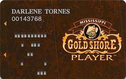 Gold Shore Casino - Biloxi MS - 4th Issue Brown Slot Card   ...[RSC]... - Casino Cards