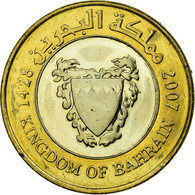 Monnaie, Bahrain, Hamed Bin Isa, 100 Fils, 2007, SUP, Bi-Metallic, KM:26 - Bahrein