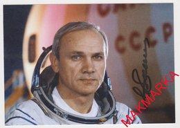 MAKMARKA SPACE RUSSIA 2019.03.06 AUTOGRAPH V.DZHANIBEKOV (5 SPACE FLIGHTS) 1 POST CARD (10Х15) - Autógrafos