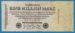 DEUTSCHES REICH 1 Million Mark  25.07.1923 Serial# No B.4150443 KM# 94 - [ 3] 1918-1933 : Weimar Republic