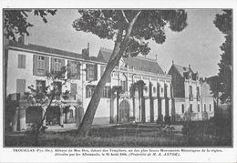 Trouillas (Pyrénées Orientales) - Abbaye Du Mas Deu, Des Templiers, Détruite Par Les Allemands 1944 - Carte Non Circulée - Eglises Et Couvents