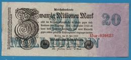 DEUTSCHES REICH 20 Millionen Mark  25.07.1923 Serial# No 15AF.030623 KM# 97b - 20 Millionen Mark