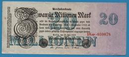DEUTSCHES REICH 20 Millionen Mark  25.07.1923 Serial# No 18AF.030078 KM# 97b - 20 Millionen Mark