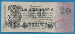 DEUTSCHES REICH 20 Millionen Mark  25.07.1923 Serial# No Y.1625979 KM# 97a - 20 Millionen Mark