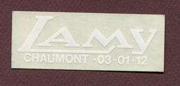"""CHAUMONT  (52) : """" Moto - Vélo  LAMY """" - Autocollants"""