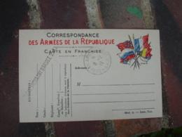 Bureau Ambulant Armee 2 X A Cachet Franchise Postale Guerre 14.18 - 1. Weltkrieg 1914-1918