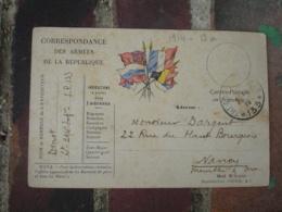 Tresor Et Postes 133 Cachet Franchise Postale Guerre 14.18 - Marcophilie (Lettres)
