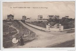 SAINT AUBIN SUR MER PANORAMA DE RIVE PLAGE 1910 - Saint Aubin