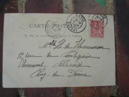 Daguin Double Jumele Obliteration Sur Lettre Pour Clermont Ferrand - Postmark Collection (Covers)