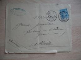 Daguin Double Jumele Amiens Lettre Timbre Sage - 1877-1920: Période Semi Moderne
