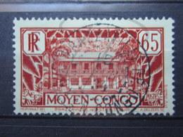 """VEND BEAU TIMBRE DU CONGO N° 125 , OBLITERATION """" BRAZZAVILLE """" !!! - Congo Français (1891-1960)"""