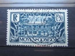 """VEND BEAU TIMBRE DU CONGO N° 129 , OBLITERATION """" BRAZZAVILLE """" !!! - Congo Français (1891-1960)"""