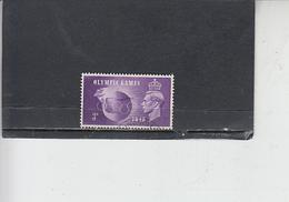 GRAN BRETAGNA  1948 - Unificato  242 - Olimpiadi Londra - Usati