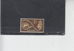 GRAN BRETAGNA  1949 - Unificato  249 - UPU - Usati