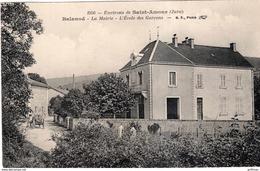 ENVIRONS DE SAINT AMOUR BALANOD LA MAIRIE L'ECOLE DES GARCONS 1913 - Frankrijk