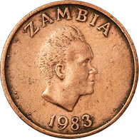 Monnaie, Zambie, Ngwee, 1983, British Royal Mint, TB+, Copper Clad Steel, KM:9a - Zambie
