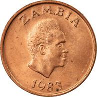 Monnaie, Zambie, Ngwee, 1983, British Royal Mint, TTB, Copper Clad Steel, KM:9a - Zambie