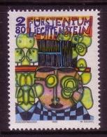 LIECHTENSTEIN MI-NR. 1060 ** FRIEDENSREICH HUNDERTWASSER HOMMAGE - Modern