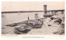 Connecticut  Waterford , Pleasure Beach Pier - United States