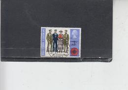 GRAN BRETAGNA  1971 - Unificato  643 - Lega Britannica - 1952-.... (Elisabetta II)