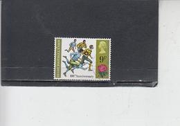 GRAN BRETAGNA  1971 - Unificato  645 -  Rugby - Usati