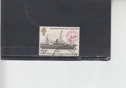 GRAN BRETAGNA  1974 - Unificato 725 - UPU - Nave - 1952-.... (Elisabetta II)