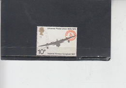 GRAN BRETAGNA  1974 - Unificato 728 - UPU - Aereo - Usati