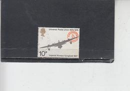 GRAN BRETAGNA  1974 - Unificato 728 - UPU - Aereo - 1952-.... (Elisabetta II)