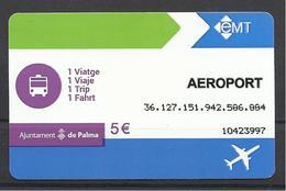 Spain, Palma De Mallorca, Airport, 2018. - Transportation Tickets