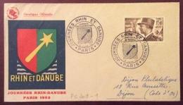 PS209-1 Maréchal De Lattre De Tassigny 920 Journées Rhin Et Danube Jardin D'Acclimatation 5/6/1952 - Postmark Collection (Covers)