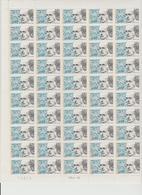 Faciale 21.35 Eur ; Feuille De 50 Tbs à 2.80 Fr N° 2994 (cote 65 Euros) - Ganze Bögen