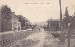 Cpa Dept 42 - Saint-martin-d'estréaux - La Gare (voir Scan Recto-verso) - Autres Communes