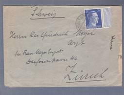 Lettre - Obl. Buchsweiler (Unter Els) 22.08.1942  -> Zürich  -  Censored/Zensur/ Censure  E - Marcophilie (Lettres)