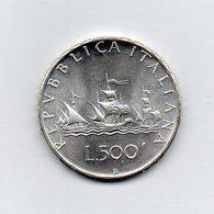 """ITALIA - 1969 - 500 Lire """"Caravelle"""" - Argento 835 - Peso 11 Grammi - (MW2180) - 1946-… : Repubblica"""
