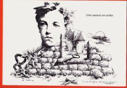 ILL414 Illustrateur Tarnais PARTARRIEU 81-LESCURE Tarn RIMBAUD Une SAISON En ENFER Dessin Plume Edit FLORILEGE N° 80 - Autres Photographes