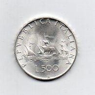 """ITALIA - 1966 - 500 Lire """"Caravelle"""" - Argento 835 - Peso 11 Grammi - (MW2181) - 1946-… : Repubblica"""