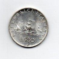 """ITALIA - 1960 - 500 Lire """"Caravelle"""" - Argento 835 - Peso 11 Grammi - (MW2182) - 1946-… : Repubblica"""