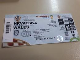 Old  Soccer Ticket - Croatia : Walles - Autres