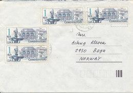 Czechoslovakia Cover Sent To Norway 1988 ?? - Czechoslovakia