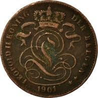 Monnaie, Belgique, Leopold II, Centime, 1901, TB+, Cuivre, KM:34.1 - 1865-1909: Leopold II