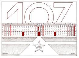 [MD3078] CPM - SCUOLA TRUPPE CORAZZATE - CASERTA - 1° CP KLISSURA - 107° CORSO A.U.C. - NUMERTA - Non Viaggiata - Militari