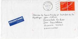 Cover: France - Kyrgyzstan, 2005. Postal Stationery, Port Payé. - France