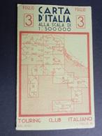 6c) TOURING CLUB CARTA ITALIA N°3 DIMENSIONI APERTA 66 X 36 Cm OTTIME CONDIZIONI - Carte Stradali