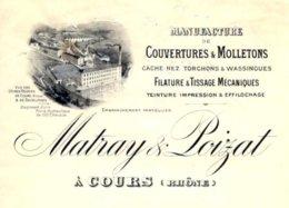MATRAY & POIZAT   Couvertures & Molletons  COURS  69 - Lettres De Change