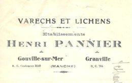 PANNIER  Varechs & Lichens  Gouville Sur Mer, GRANVILLE  50 - Lettres De Change