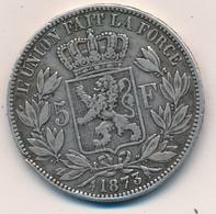 I105-16 - Monnaie 5 Francs Argent Roi Des Belges Léopold II - 1873 - 1865-1909: Leopold II