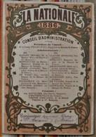 75 PARIS 2e 51 St AMAND LA NATIONALE 1886 BANQUE DE FRANCE - Calendars