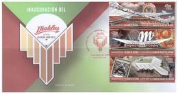 2019 MÉXICO SOBRE Estadio Béisbol Alfredo Harp Helú Diablos Rojos Del México, FDC BASEBALL STADIUM, ARCHITECTURE, SPORTS - Mexique