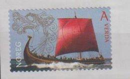 Norvège. Norway. Bateau De Guerre Viking; Autocollant; Self-adhesive - Barcos
